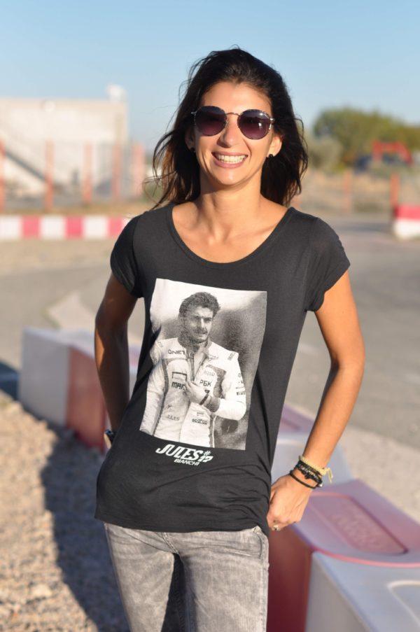Association Jules Bianchi - Femme - Tee-shirt femme Jules Sylverstone qualifying 2013