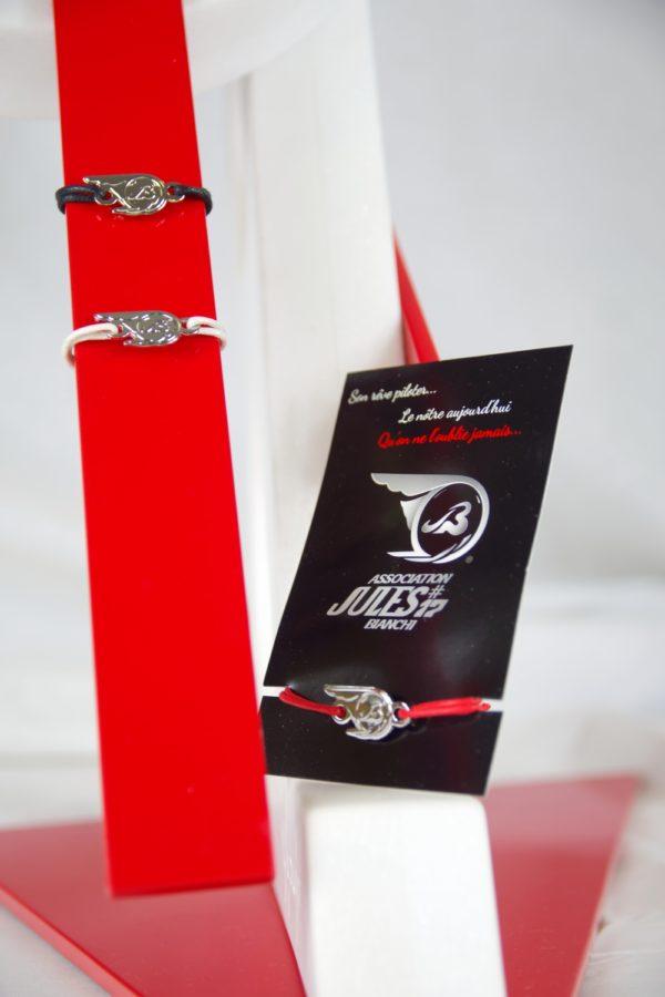 Association Jules Bianchi - Accessoires - Bracelet en cordon JB