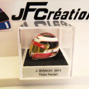 Association Jules Bianchi - Accessoires - Mini casque Jules Bianchi tests Ferrari 2011