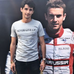 Association Jules Bianchi - Homme - Tee-shirt Homme NEVER GIVE UP!