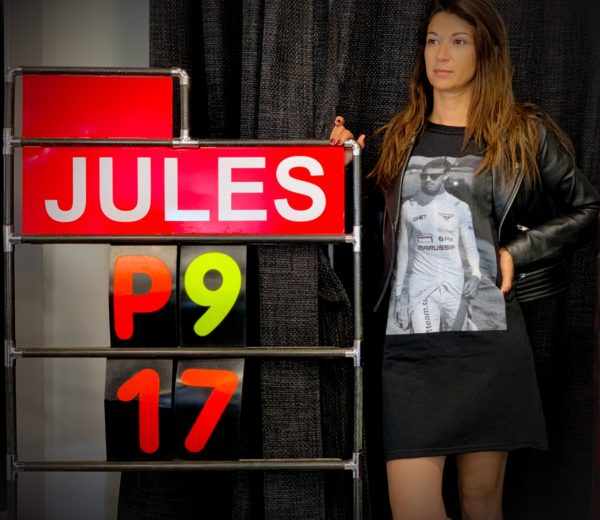 Association Jules Bianchi - Femme - Robe sweat manches courtes