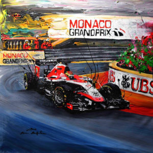 Association Jules Bianchi - Decoration - Reproduction painting GP Monaco