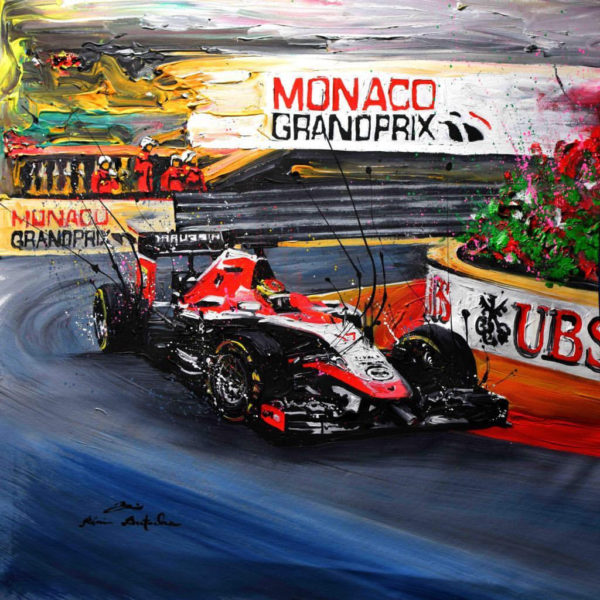 Association Jules Bianchi - Decoration - Reproduction tableau GP Monaco 2014