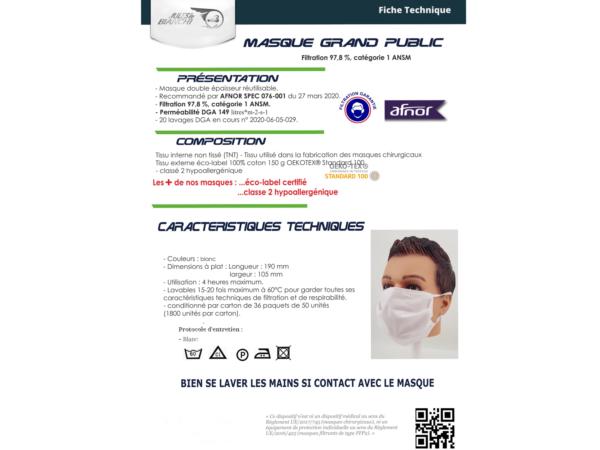 Association Jules Bianchi - Accessoires - Reusable mask