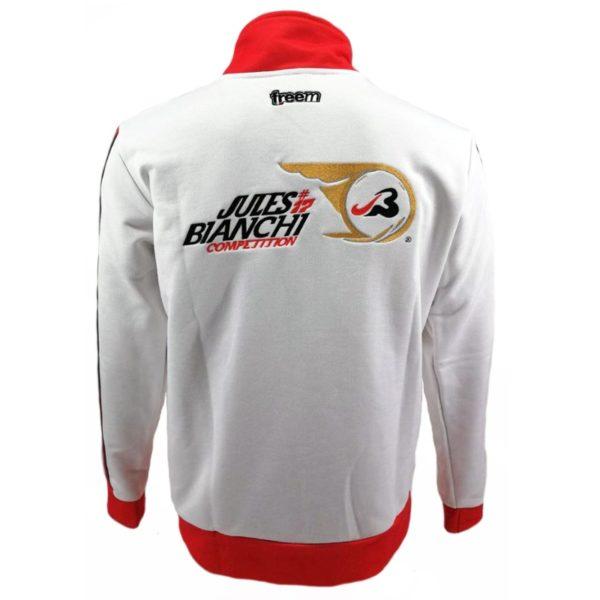 Association Jules Bianchi - Compétition - Sweat 1/2 zippé blanc